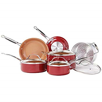 Red Copper - BulbHead 10824 - Pot and Pans For Gas Stove