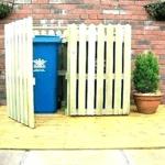 Outdoor Trash Can Enclosure