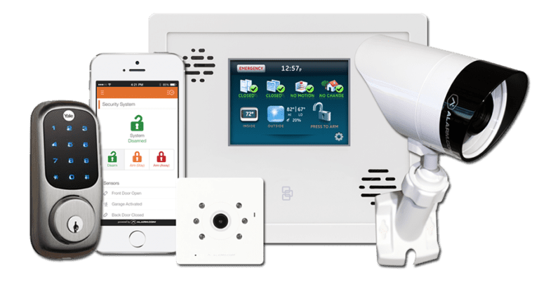 Alarm systems with cameras