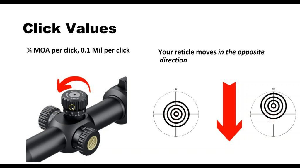 How To Adjust A Rifle Scope - YouTube