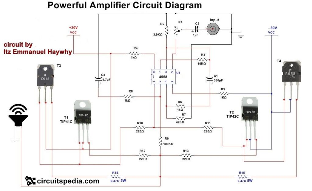 How to make an audio amp?